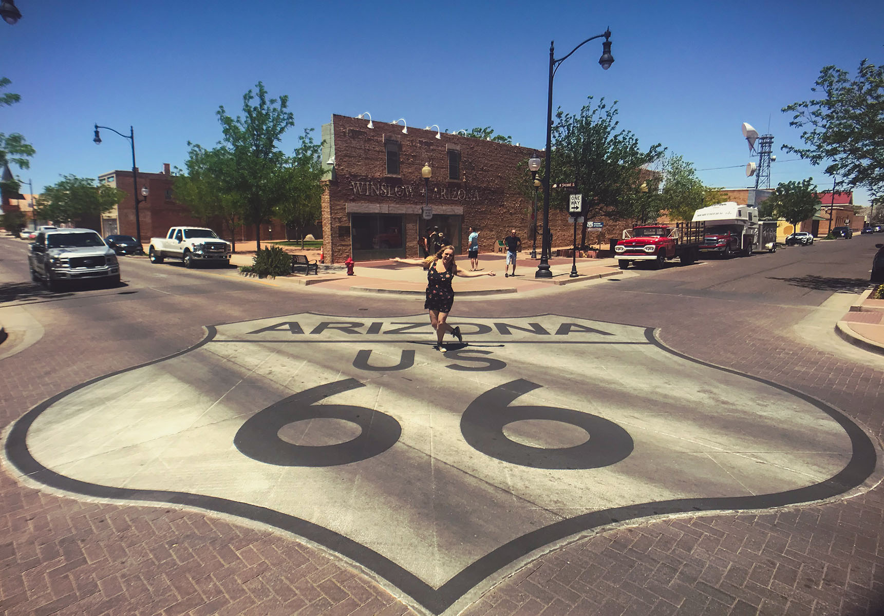 Winslow arizona take it easy the eagles road trip route 66 USA
